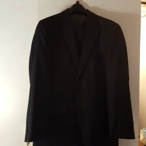 Linea uomo modern fit mens black suit